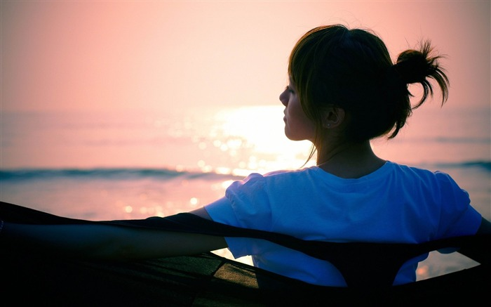 silhouette girl asian-photo wallpapers Views:2693