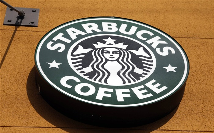 starbucks logo cafe-Brand Desktop Wallpaper Views:3609