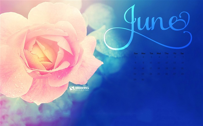 June 2014 calendar desktop themes wallpaper Views:10399