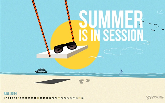 Summer Is In Session-June 2014 calendar wallpaper Views:1741