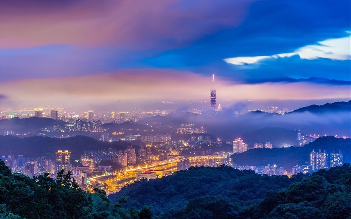 Taiwans night-Cities landscape wallpaper Views:1810