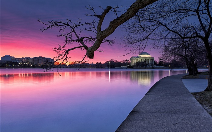 United States dusk-Cities landscape wallpaper Views:3586