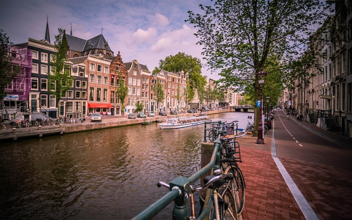 amsterdam channel-Cities landscape wallpapers Views:2373