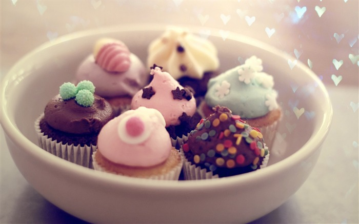 cakes cupcakes plate-High quality desktop wallpaper Views:2692