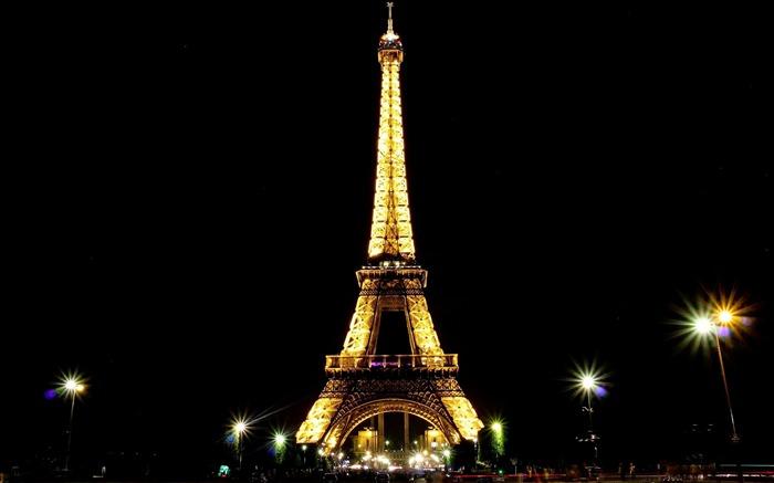 法国巴黎艾菲尔铁塔-城市风景墙纸