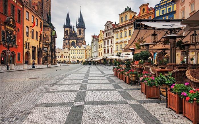 布拉格中心-城市风景墙纸