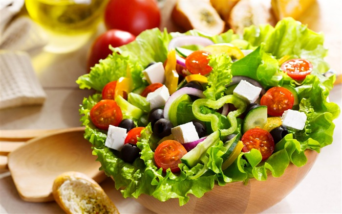 salad greek vegetables-Plants desktop wallpaper Views:2742