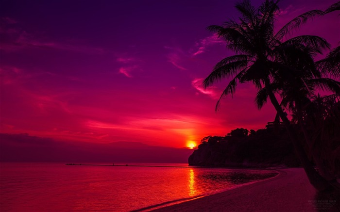 thailand beach sunset-Landscape HD Wallpaper Views:4018