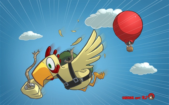 Chickens can not fly without a parachute-Windows Theme Wallpapers Views:3266