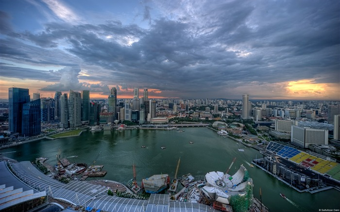 Singapore skyline-Windows Theme Wallpaper Views:1872
