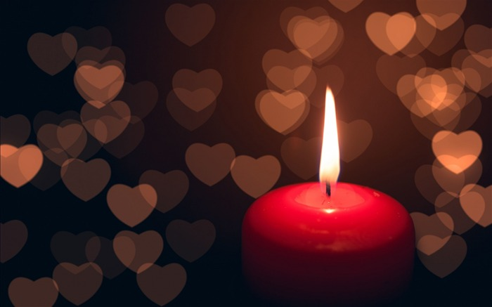 candle heart dark-High quality wallpaper Views:4093
