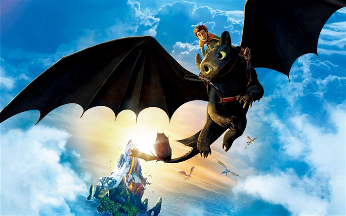 hiccup riding toothless-High quality wallpaper Views:3182