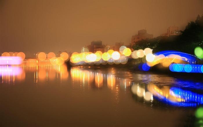 夜晚的背景虚化-最好的风景壁纸 预览