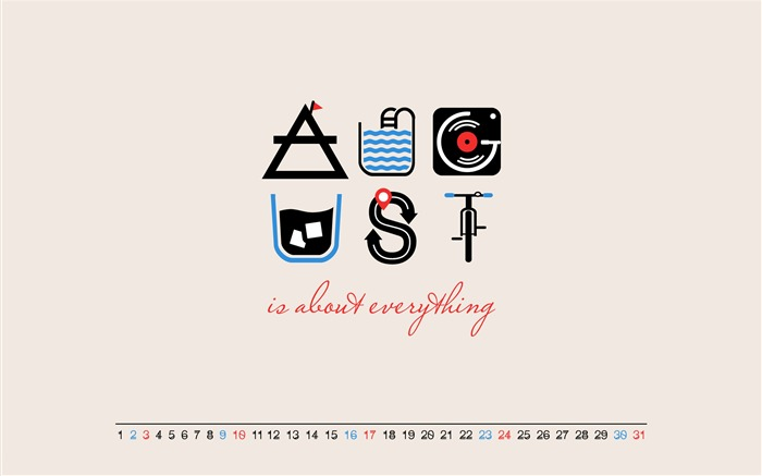 About Everything-August 2014 calendar wallpaper Views:3718