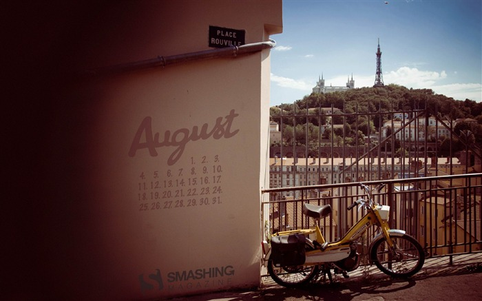 August in Lyon-August 2014 calendar wallpaper Views:3365