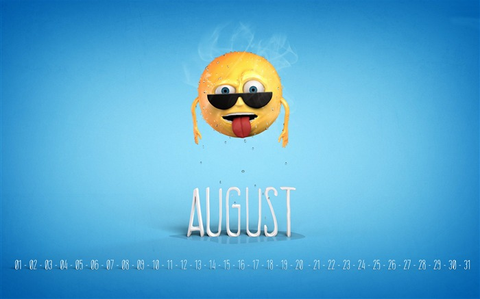 Heatstroke-August 2014 calendar wallpaper Views:2947
