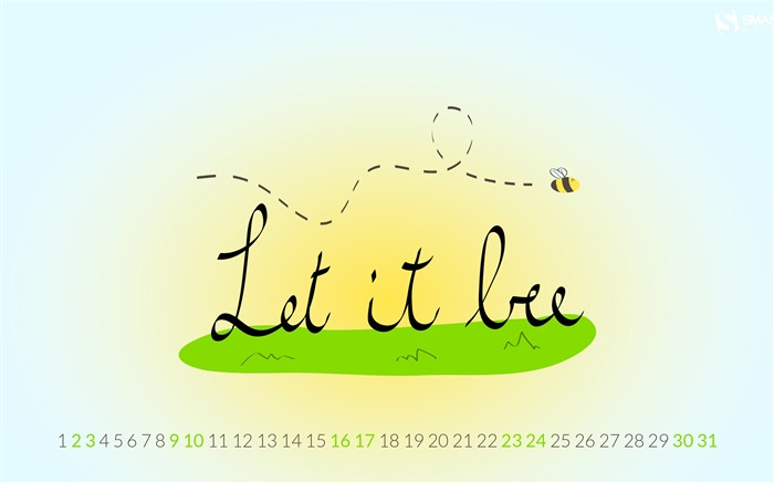 Let It Bee-August 2014 calendar wallpaper Views:3283