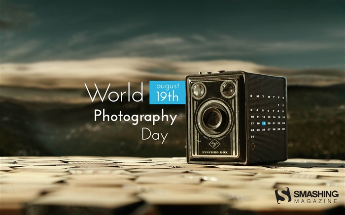 Photography Day-August 2014 calendar wallpaper Views:1588
