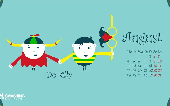 Silliness-August 2014 calendar wallpaper Views:1351