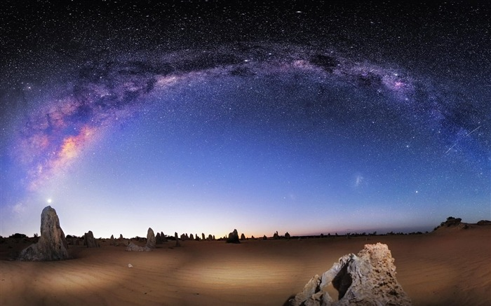 Beautiful night scenery Galaxy HD Wallpaper Views:16379
