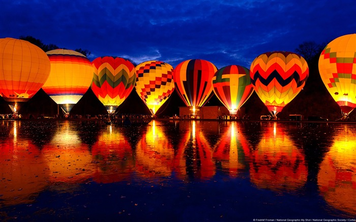 Cincinnati Lake balloon-Windows Theme Wallpaper Views:3470