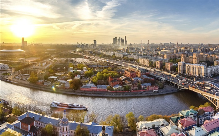 Downtown Moscow Russia-Windows Theme Wallpaper Views:3157