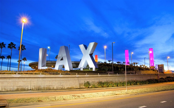 LAX Airport At Night-City HD Wallpapers Views:4869