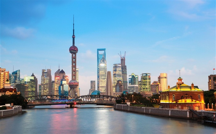 shanghai cityscape-City HD Wallpaper Views:1944