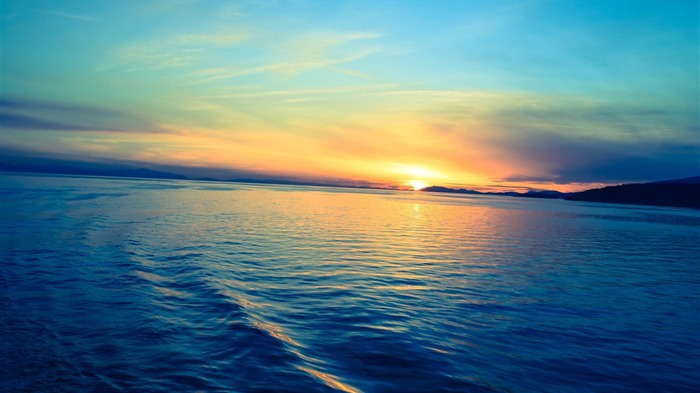Beautiful Ocean Sunset-Nature HD Wallpaper Views:4672