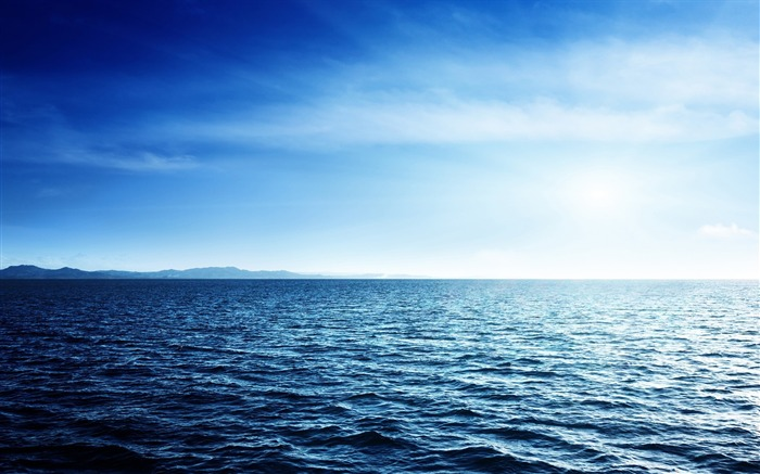 Blue Ocean Water-Nature HD Wallpaper Views:3217