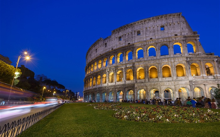Colosseum At Night-landscape HD wallpaper Views:2812