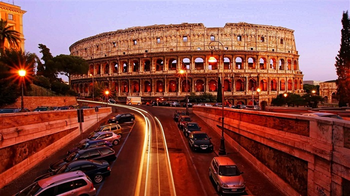Colosseum Rome Italy-HD Widescreen Wallpaper Views:2037