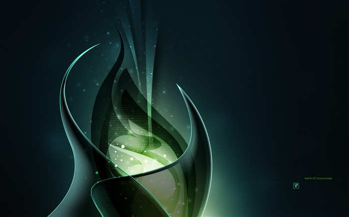 Cool 3D Green-High quality wallpaper Views:3321
