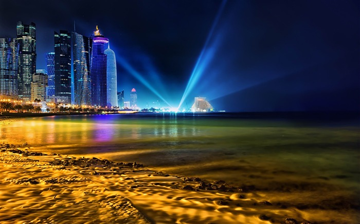 Doha City Qatar-HD Widescreen Wallpaper Views:4218