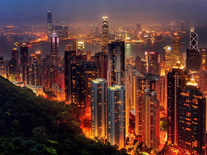 Hong Kong City-HD Widescreen Wallpaper Views:5007