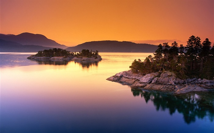 Lake Sunset Reflection-Nature HD Wallpaper Views:3379