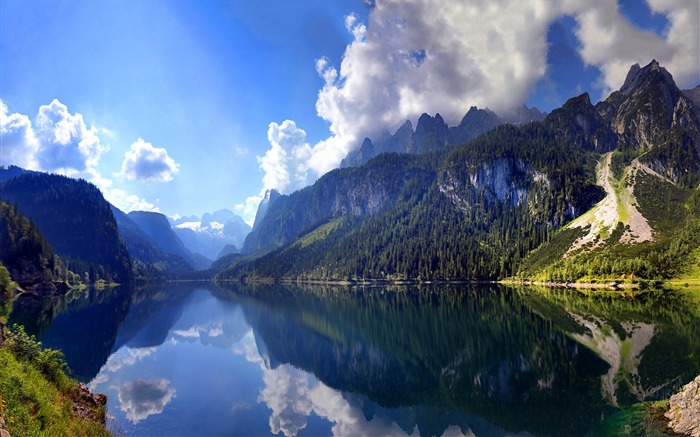 Mountain Lake Scene-Nature HD Wallpaper Views:3351