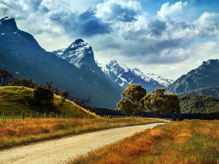 Mountains Country Road-Landscape HD Wallpapers Views:2712