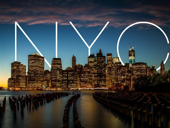 NYC New York Sunset-landscape HD wallpaper Views:4490