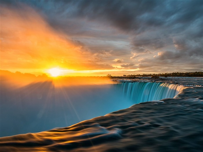 Niagara Falls Sunset-Nature HD Wallpaper Views:3601