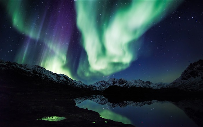 Northern Lights-Nature HD Wallpaper Views:3096