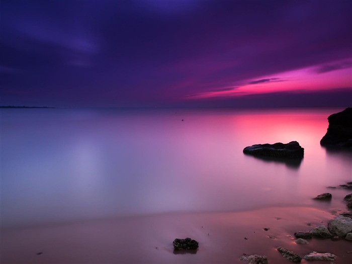 Purple Sunset-Nature HD Wallpaper Views:2160