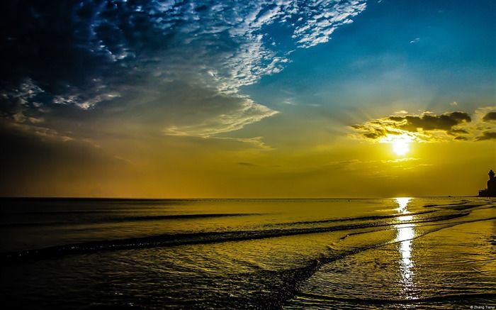 Yantai Beach Sunrise-Windows Theme Wallpaper Views:2844
