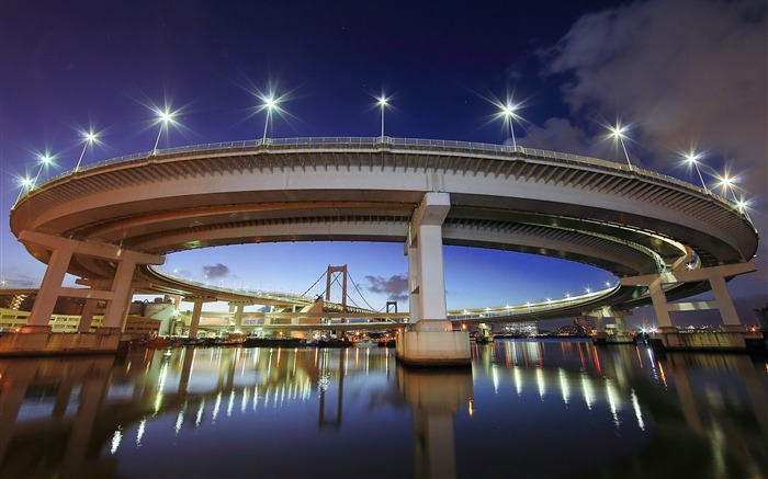 rainbow bridge tokyo-HD Widescreen Wallpaper Views:4084