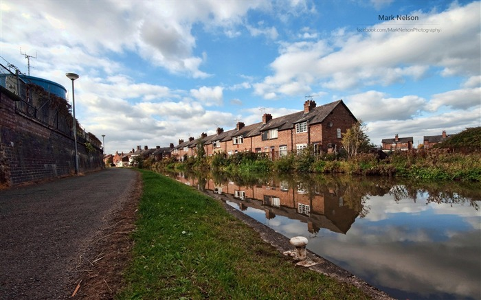 Town house-Lakes landscape photography wallpaper Views:1695