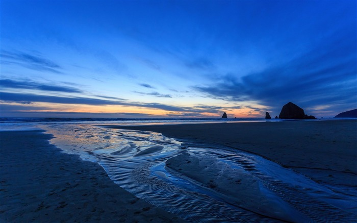 sunset oregon beach-Scenery HD Wallpapers Views:1666