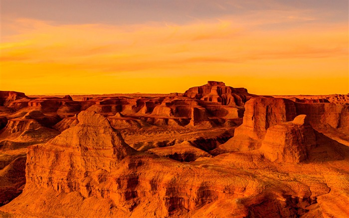 Gobi Desert Sunset-Windows 10 HD Wallpaper Views:4678