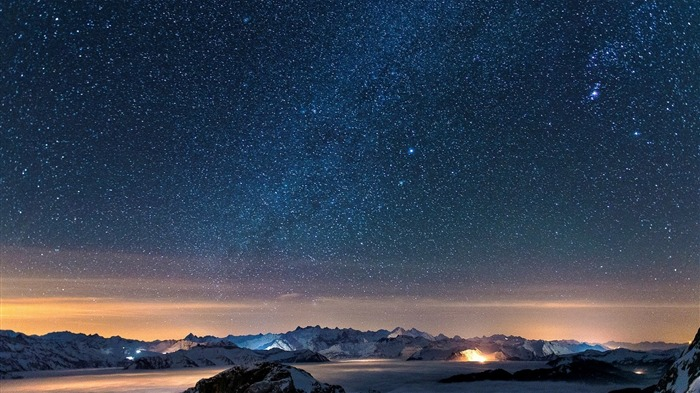 Night Sky With Stars-Landscapes HD Wallpaper Views:3732