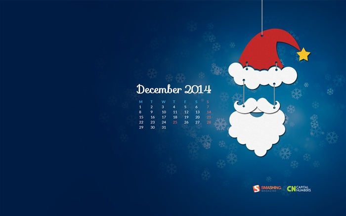 December 2014 Calendar Desktop Themes Wallpaper Views:10455