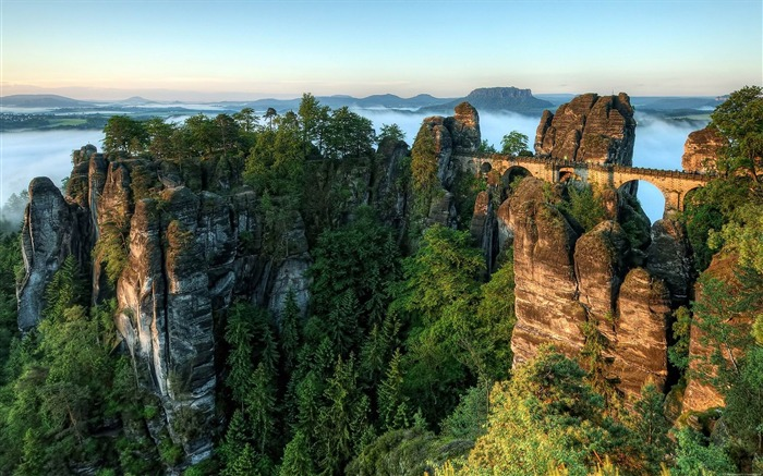 germany bastei bridge-Photos HD Wallpaper Views:2878